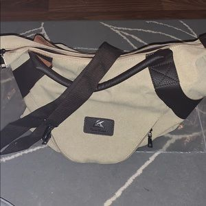 Canvas overnight tote (new in plastic)